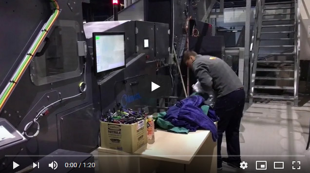 Inwatec Fully Automatic Sorting of Soiled Workwear
